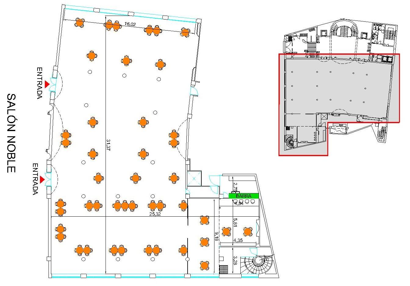 Plano Salón Noble