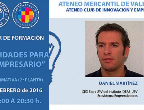 Daniel Martínez inicia el I Taller de Formación para Emprendedores