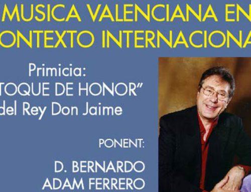 """""""La música valenciana en su contexto internacional"""" per Bernardo Adam Ferrero"""