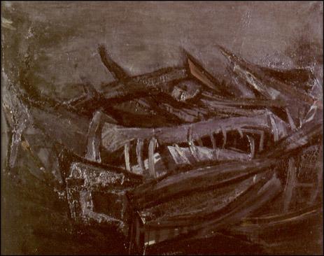 1961-vii-salon-de-otono-barcas-debajo-del-agua-juan-ribera-berenguer