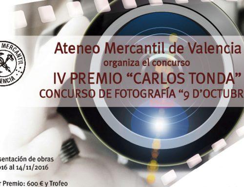 """El Ateneo Mercantil de Valencia organiza el IV Premio del concurso de fotografía """"9 d'Octubre – Carlos Tonda"""""""