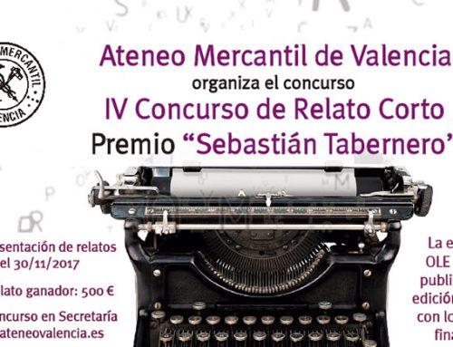 El Concurso de Relato Corto Ateneo Mercantil se llamarará 'Sebastián Tabernero': Bases de la IV edición