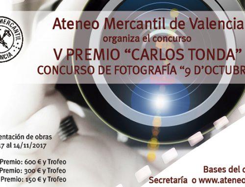 """Consulta las bases del V Concurso de Fotografía '9 de Octubre' Premio """"Carlos Tonda"""" 2017"""
