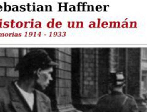 """Historia de un alemán"" de Sebastian Haffner"