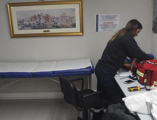 Punto de Asistencia Sanitaria Fallas 2018 en la Sala de Informática