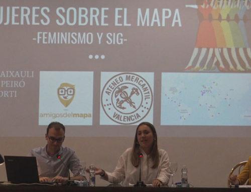 La mujer trabajadora, reflejada en un mapa