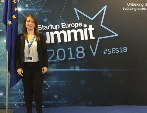 Rocío Cortés, de Mundo Arti, presente en los Startup Europe Summit 2018 en Sofía