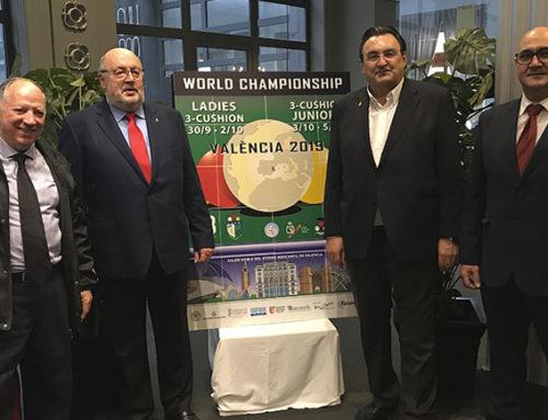 Los mejores jugadores se darán cita en el Campeonato del Mundo Femenino y Sub 22 de Billar a Tres Bandas 2019