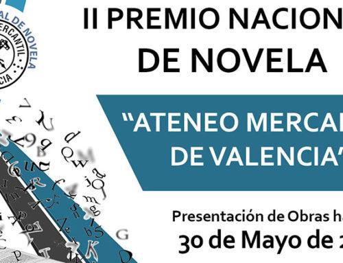 Se amplía el plazo de recepción de obras en el II Premio Nacional de Novela hasta al 30 de Mayo