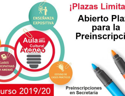 Abierto el plazo para la Preinscripción del Aula Cultural 2019-20