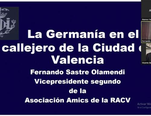 """Sastre: """"Sólo las calles de Valencia recuerdan a los 'agermanats', los primeros liberales de la historia"""""""