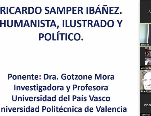Gotzone Mora destaca la importancia de Ricardo Samper en nuestra historia