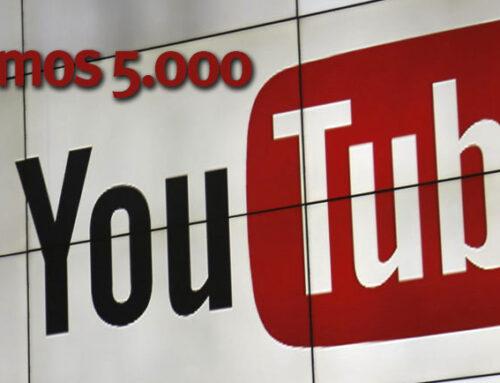 ¡Estamos de enhorabuena!  El Canal de YouTube del Ateneo sigue sumando seguidores y ya somos 5.000