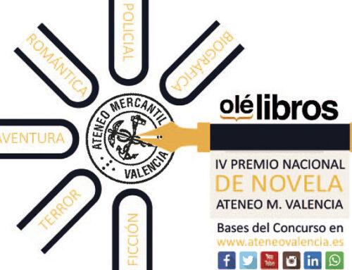 """Bases del IV Premio Nacional de Novela """"Ateneo Mercantil de Valencia"""""""