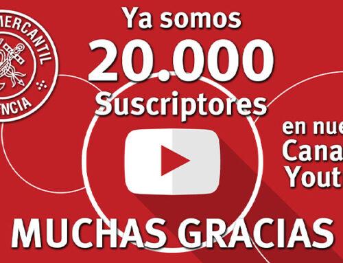 El Canal de Youtube del Ateneo está de enhorabuena. ¡Ya somos 20.000! Muchas Gracias