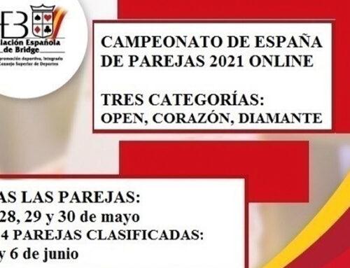 Campeonato de España por parejas: Leila Gaines-Amparo Soriano y Francisco Plancha-Nick Kempe, clasificados para las finales